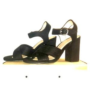 ABOUND across cross strap peep toe heels